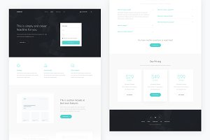 Oneland — Single Page PSD Template