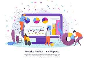 Website analytics reports concept