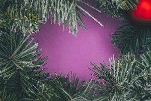Christmas background frame