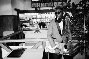 Fashion african american man model D