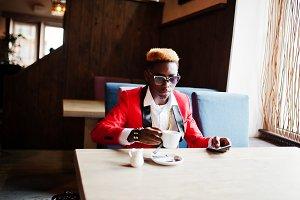 Fashion african american man model a