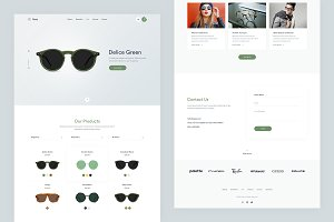 Oppy — Single Page PSD Template
