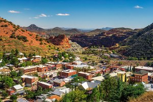 Panorama of Bisbee and Mule