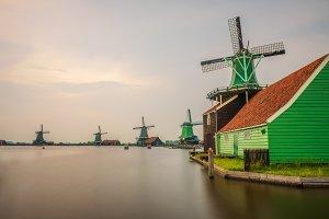 Historic windmills of Zaanse Schans