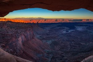 Sunset at the Mesa Arch in