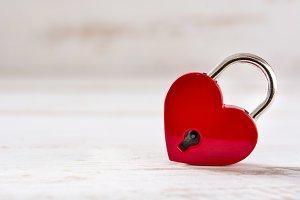 Red padlock heart
