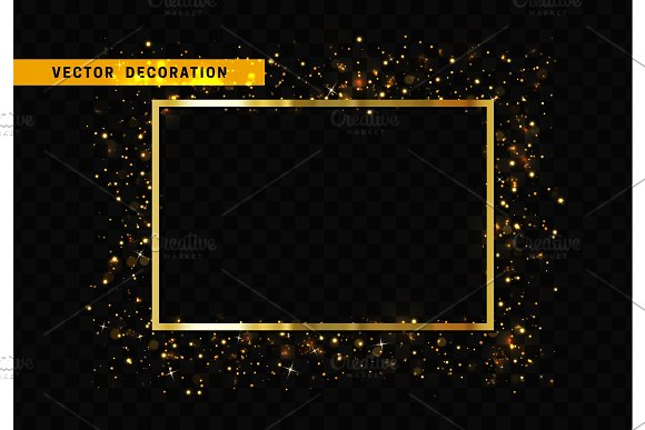Golden Rectangular Frame Illustrations Creative Market