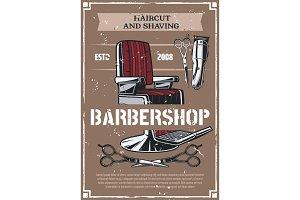Barbershop salon and beard shave