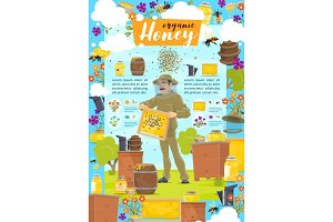 Beekeeping, organic honey and hives
