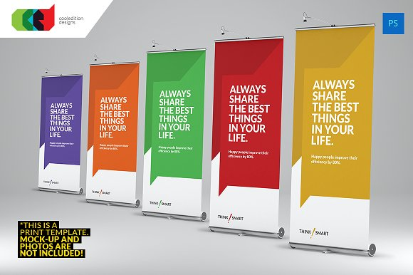 Quote It Roll Up Banner 1 Flyer Templates Creative Market