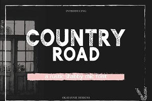 Country Road | Rustic Font