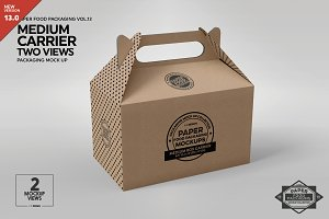 Medium Box Carrier Packaging Mockup