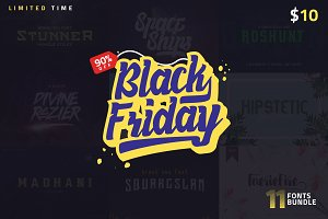 1 Fonts less than $1! Black Friday