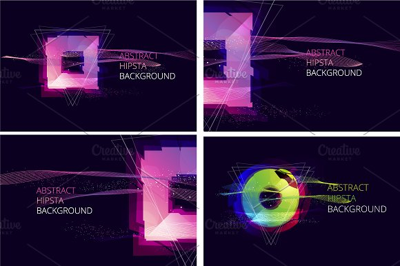 Abstract Hipsta Vector Background. in Illustrations