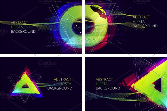 Abstract Hipsta Vector Background.