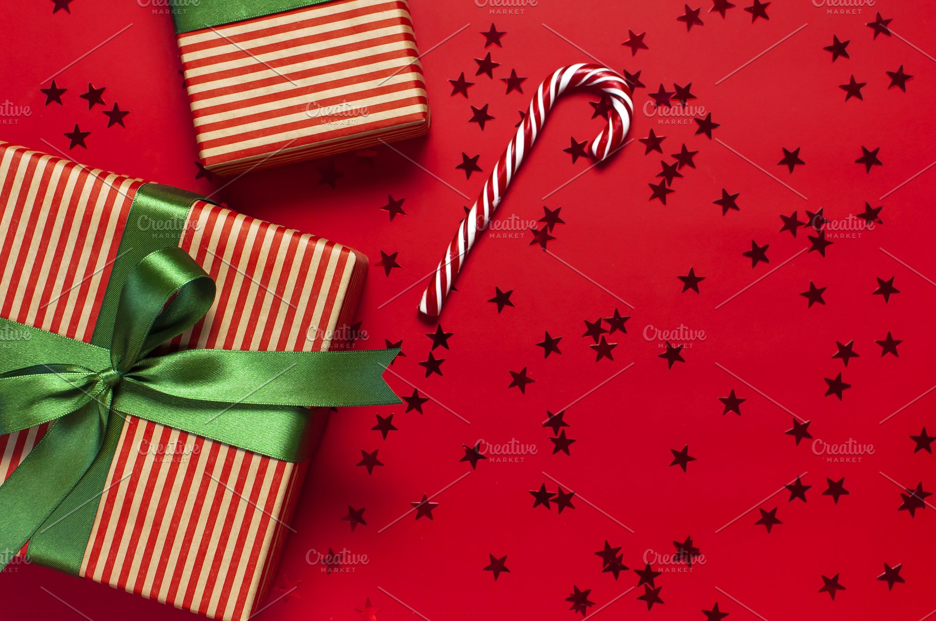 Gift boxes Candy Cane confetti