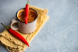 Hot spices chocolate