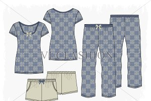 Woman Sleepwear Pajama Set