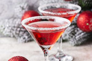 Christmas festive cocktail red