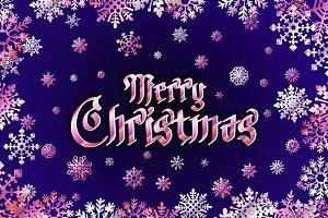vector merry christmas Holiday snow