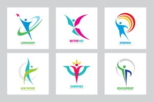 Abstract Human Logo Sign People