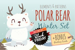 SALE! Polar Bear Winter Set
