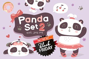 BLACK FRIDAY! Panda girl set