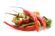 Red and green chilli pepper