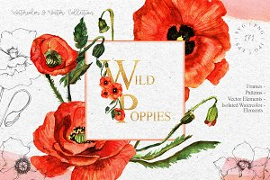 Red Poppies flowers EPS | SVG | PNG