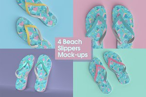 Beach Slippers Mock-up