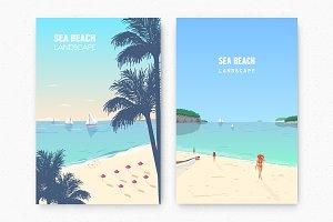 Beach landscape posters