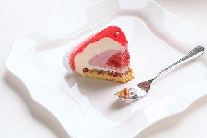 Contemporary Strawberry Mousse Cake