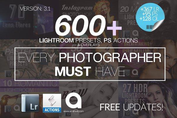 600 LIGHTROOM Presets Mega Bundle