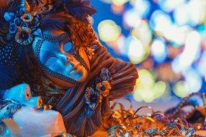 Traditional female carnival venetian