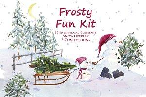 Frosty Fun Kit: Winter Clip Art