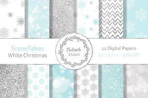 Snowflake digital paper