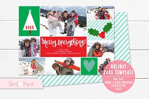 Holiday Photo Card Template