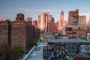 Building with graffiti in Manhattan