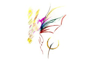 Abstract drawing of butterfly and