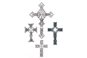 Drawing of a Christian cross in the
