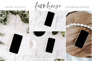 Farmhouse iPhone Mock Ups