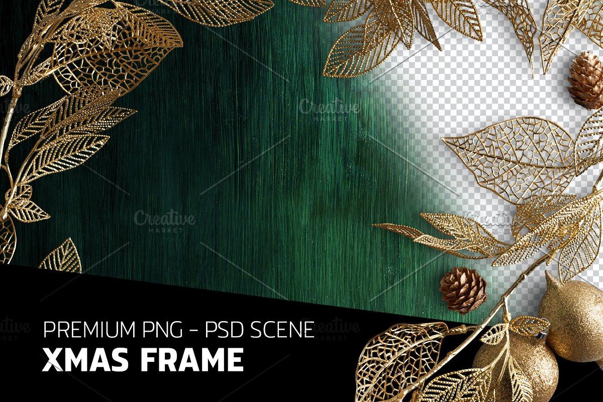 eb59bb6cd0c0 XMAS FRAME PSD SCENE ~ Print Mockups ~ Creative Market