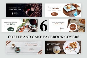 Coffee and Cake Facebook Covers - SK