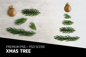 XMAS TREE PSD SCENE