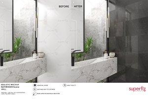 Wall Mockup Bathroom Scene SM54