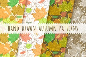 Fallen Leaves Hand Drawn Patterns