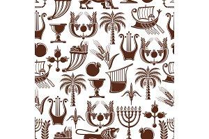 Israel Jewish seamless pattern