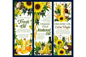 Organic vegetable and nut oils