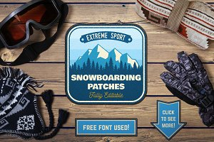 Snowboarding Patches