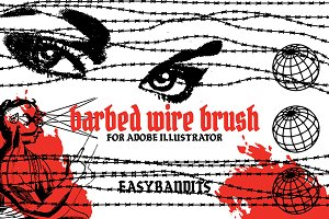Barbed Wire brush for Ai + Bonus